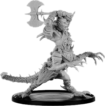 Kholukk, Ogre Drake of the Grimwald with Unhelmed Head and Axe [2 for 1]