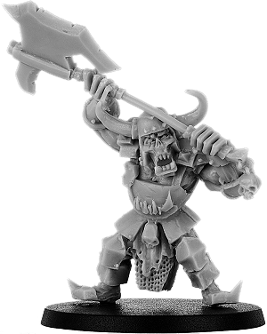 Buggrom of Ulmo, Great Axe Orc Warlord on Foot