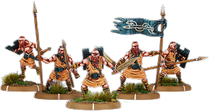 Spears of Dun Durn, Gairlom Unit (5x warriors w cmd)