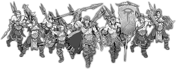 Tunaark's Raiders, Shieldwall Raider Unit (10x warriors w cmd)