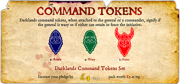 Darklands Command Tokens Set
